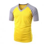 Vneck raglan yellow