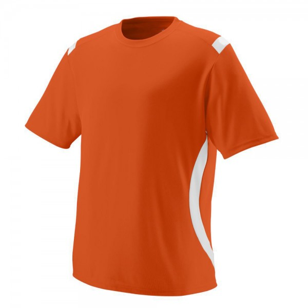 men rn with contrast colour panel orange